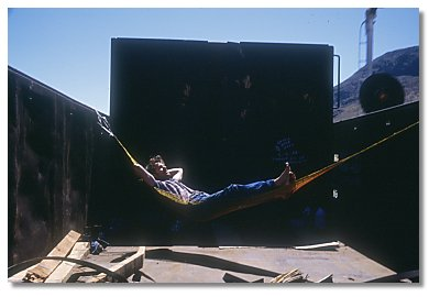 Photo Bill in his hammock