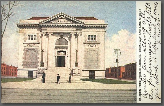 A postcard view of the library in the glory days