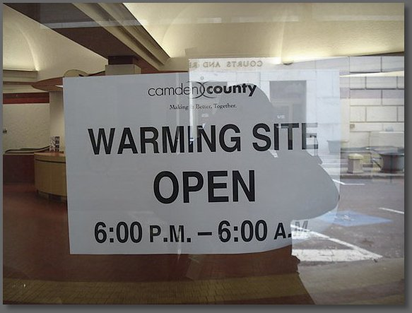 The first dedicated warming center I have ever seen