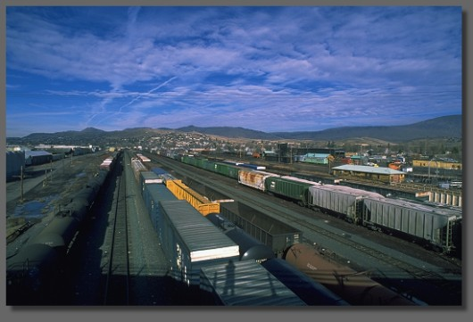 Klamath Falls freightyard, looking north