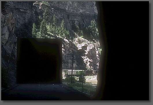 Entering a tunnel on the west slope of the Rockies
