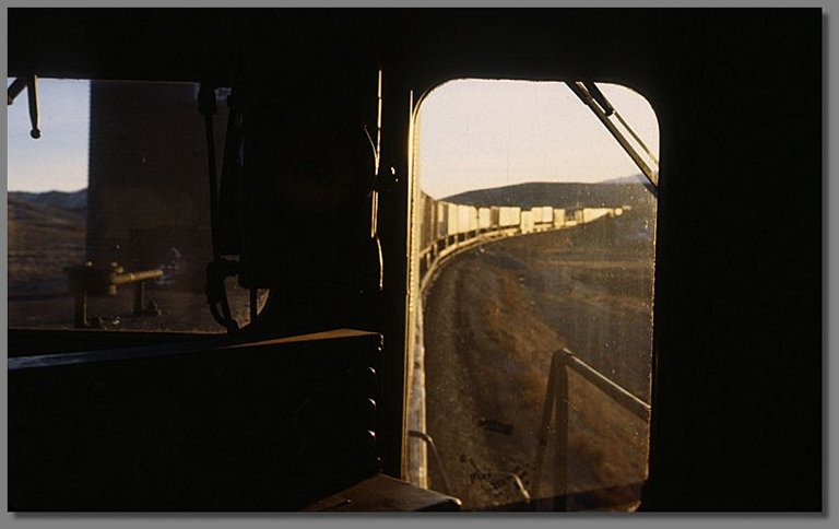 riding the last unit, eastern Nevada, January 1979