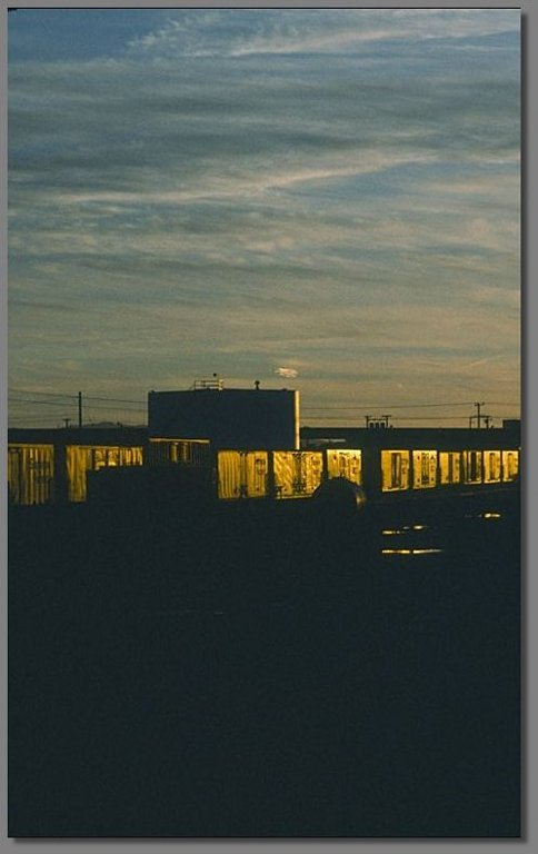 sunset, West Oakland Desert Yard, February 1981