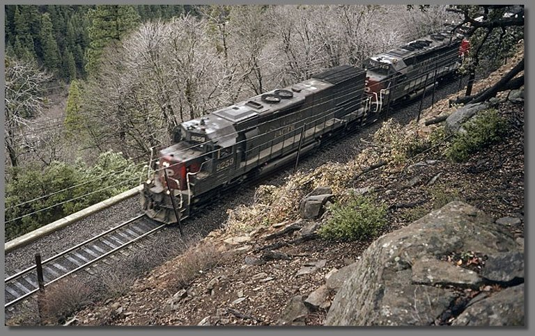northbound SP freight, above Dunsmuir, CA, date unknown