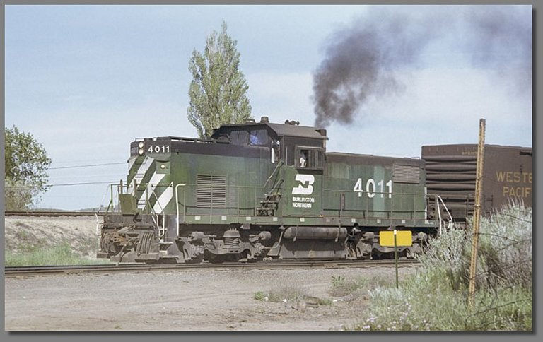 BN switcher, Klamath Falls BN yard, May 1978