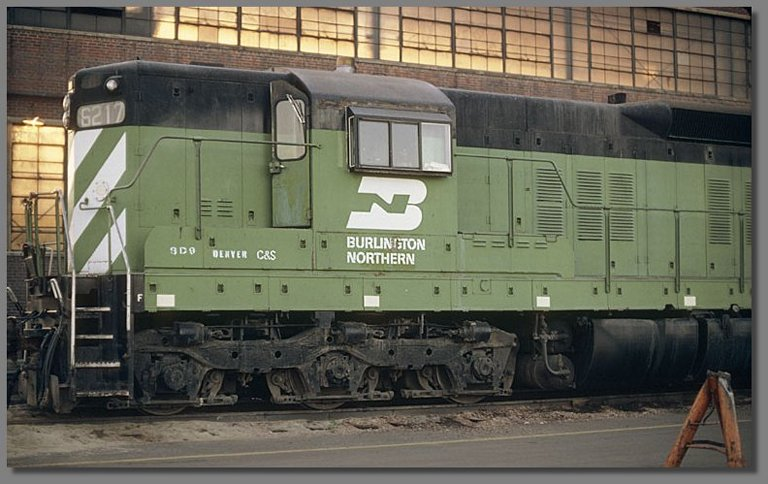 BN SD9, Denver BN yard, July 1981