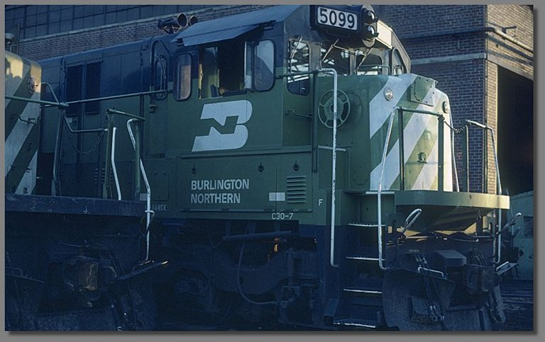 BN C30-7, Denver BN yard, July 1981