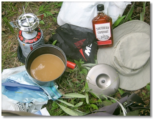 coffee break in Field, B.C. 2009