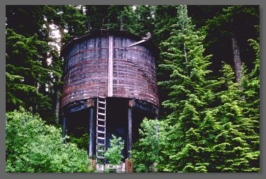 Steam-era water tank - Cruzatte, Oregon