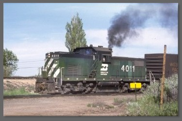 Burlington Northern center-cab switcher