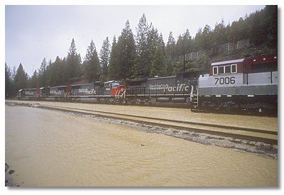 flooded south end of Dunsmuir yard