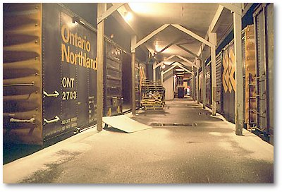 spent the night in a box car in Cochrane, Ontario