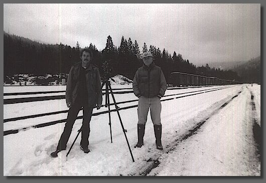 Photo Bill and I filming - Dunsmuir